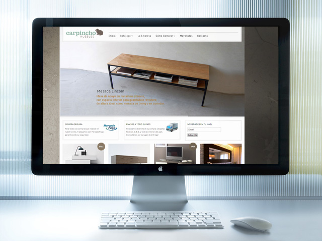 WEBSITE CARPINCHO MUEBLES